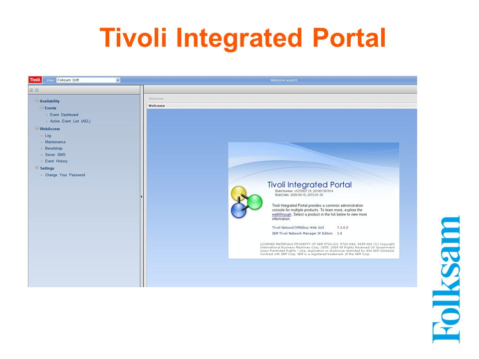 Tivoli Integrated Portal