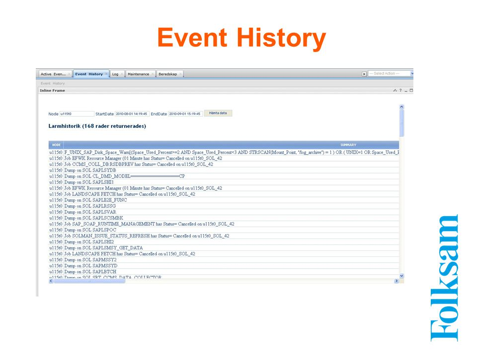 Event History
