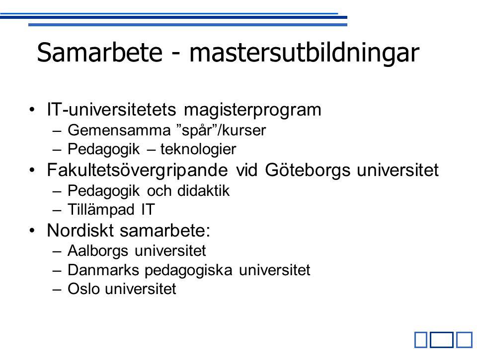 Samarbete - mastersutbildningar