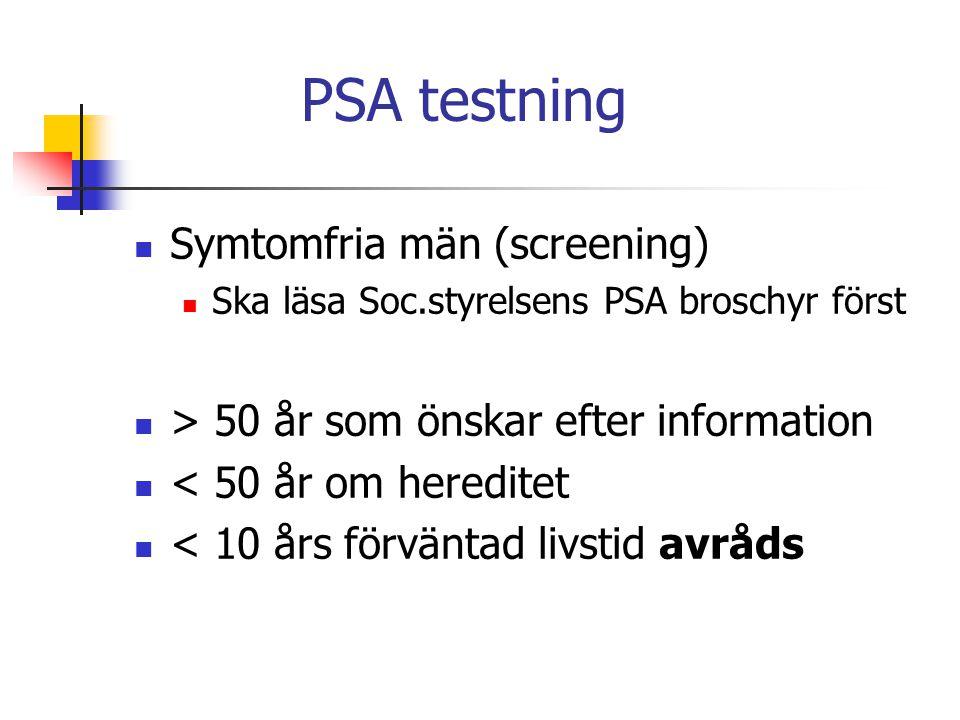 PSA testning Symtomfria män (screening)