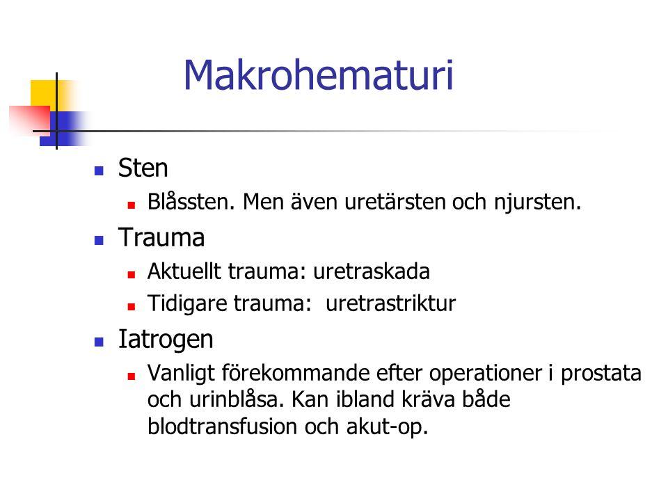 Makrohematuri Sten Trauma Iatrogen