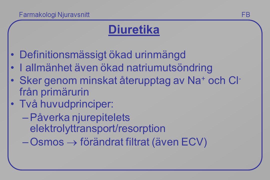 Diuretika Definitionsmässigt ökad urinmängd