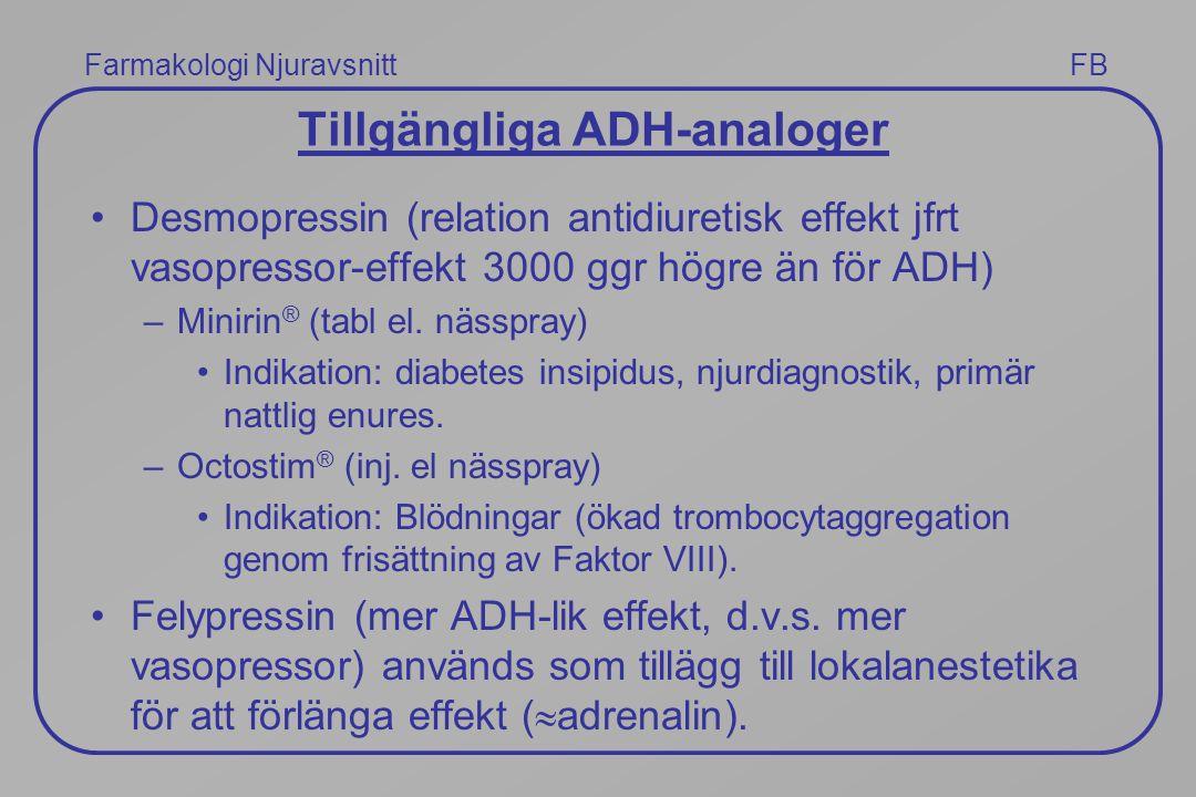 Tillgängliga ADH-analoger