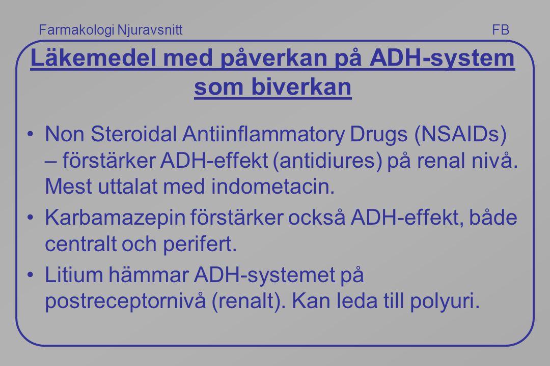 Läkemedel med påverkan på ADH-system som biverkan