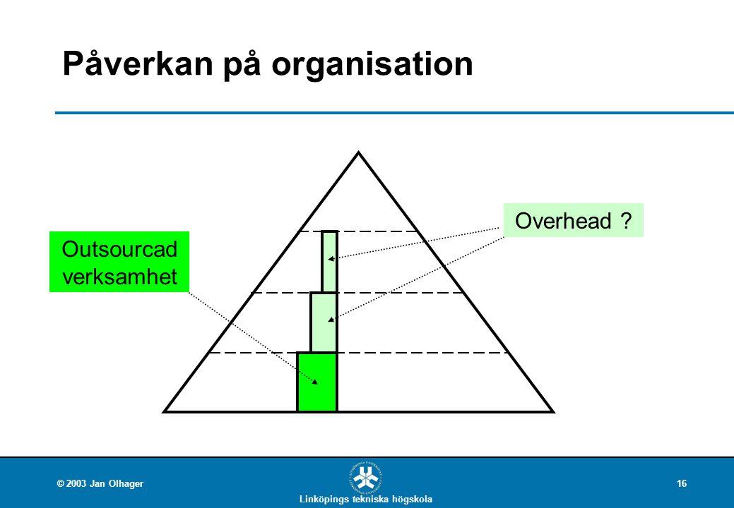 Påverkan på organisation