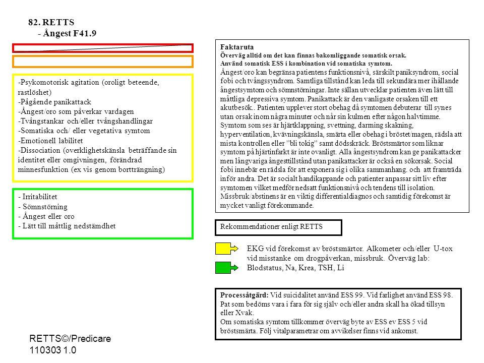 82. RETTS - Ångest F41.9 RETTS©/Predicare 110303 1.0