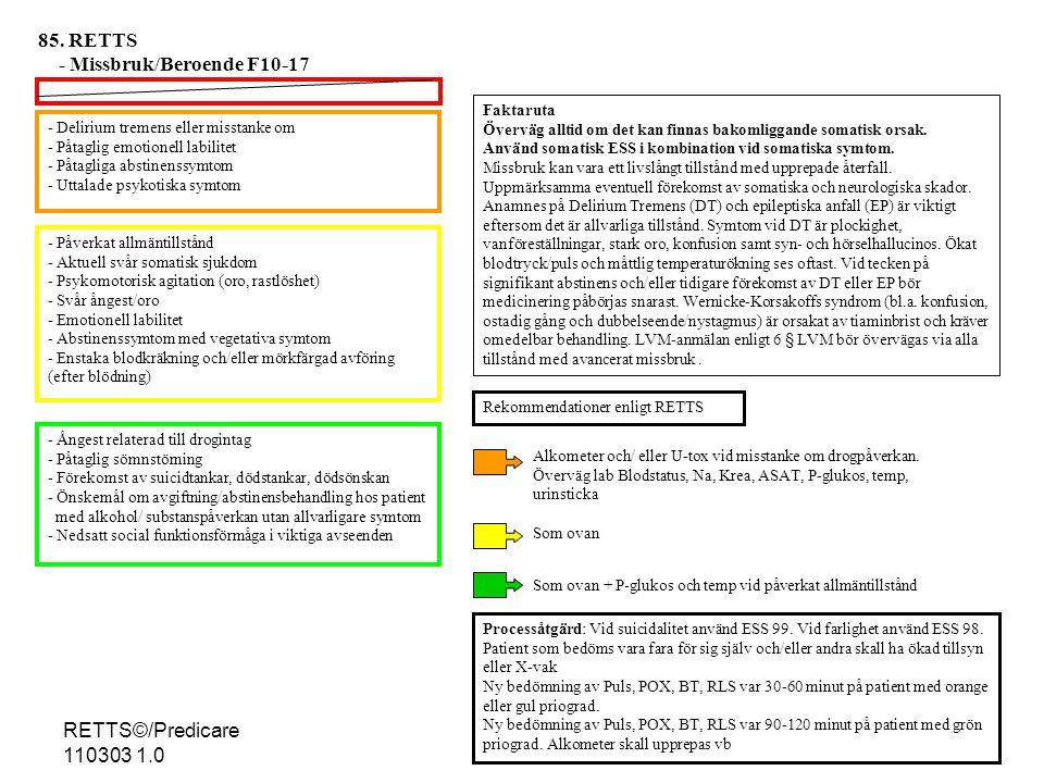 - Missbruk/Beroende F10-17