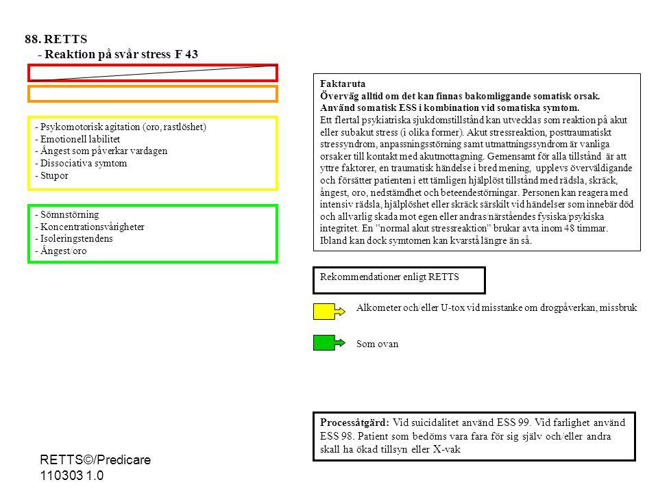 - Reaktion på svår stress F 43