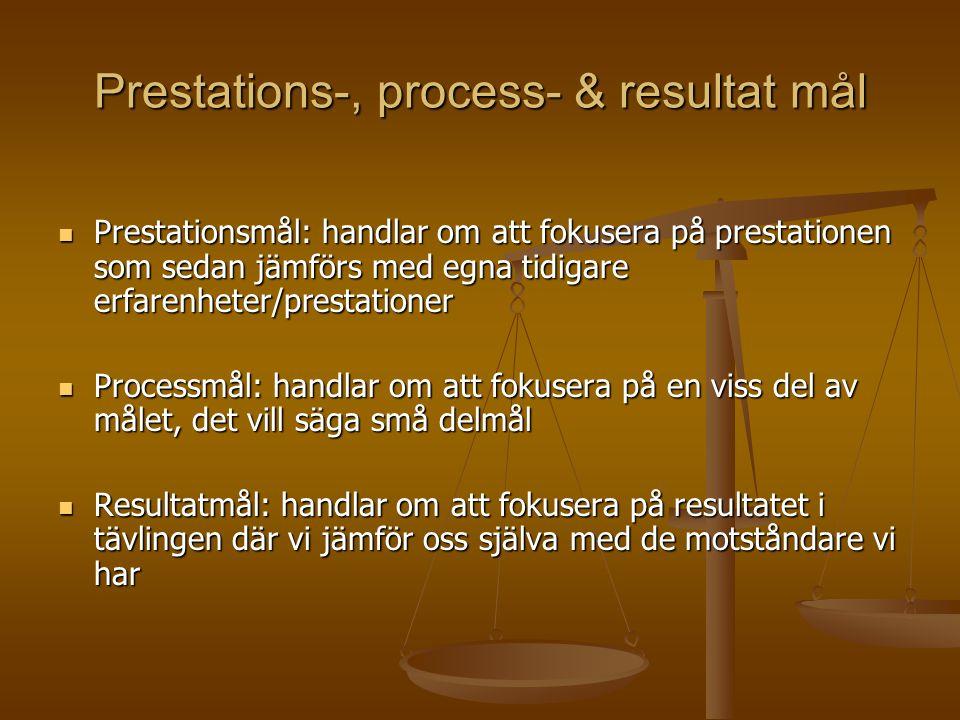 Prestations-, process- & resultat mål