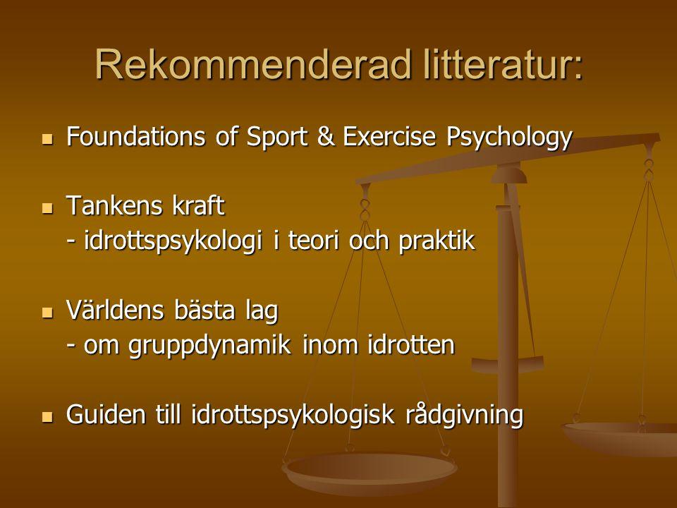 Rekommenderad litteratur: