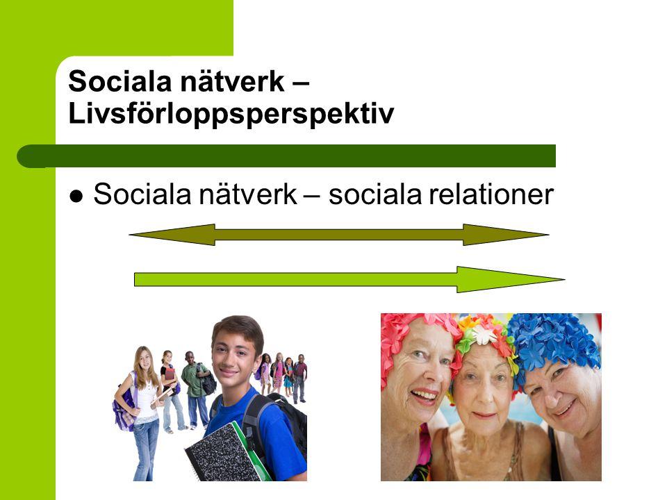 Sociala nätverk – Livsförloppsperspektiv
