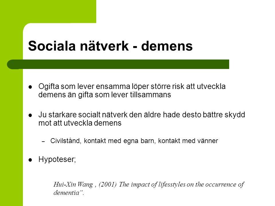 Sociala nätverk - demens