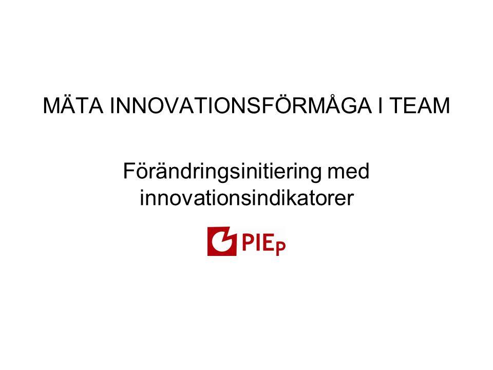 Mäta innovationsförmåga i team