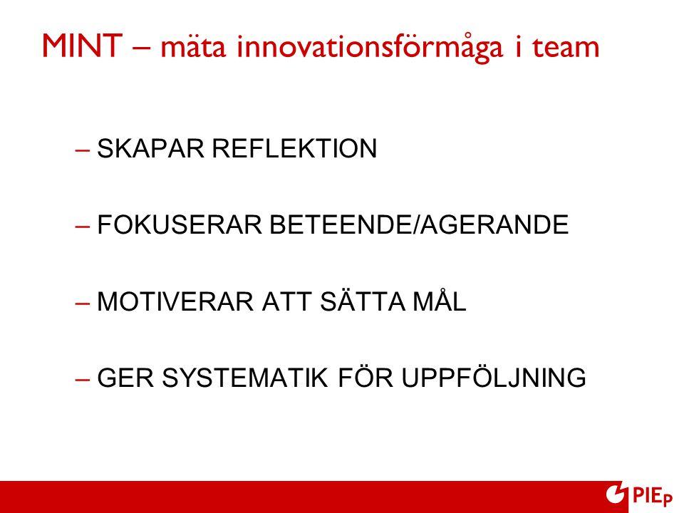 MINT – mäta innovationsförmåga i team