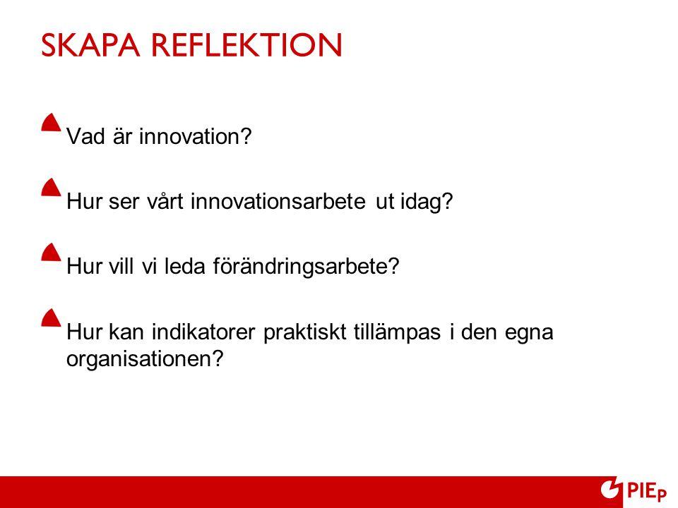 SKAPA REFLEKTION Vad är innovation