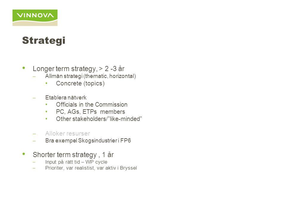 Sammanfattning Strategi på längre sikt (2 – 5 år)