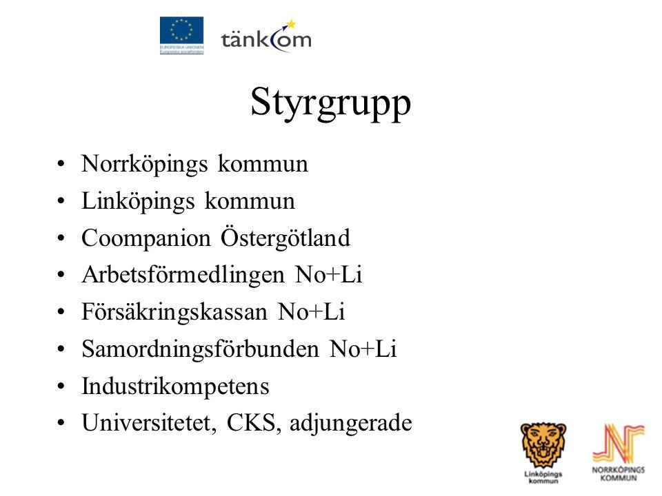 Styrgrupp Norrköpings kommun Linköpings kommun Coompanion Östergötland