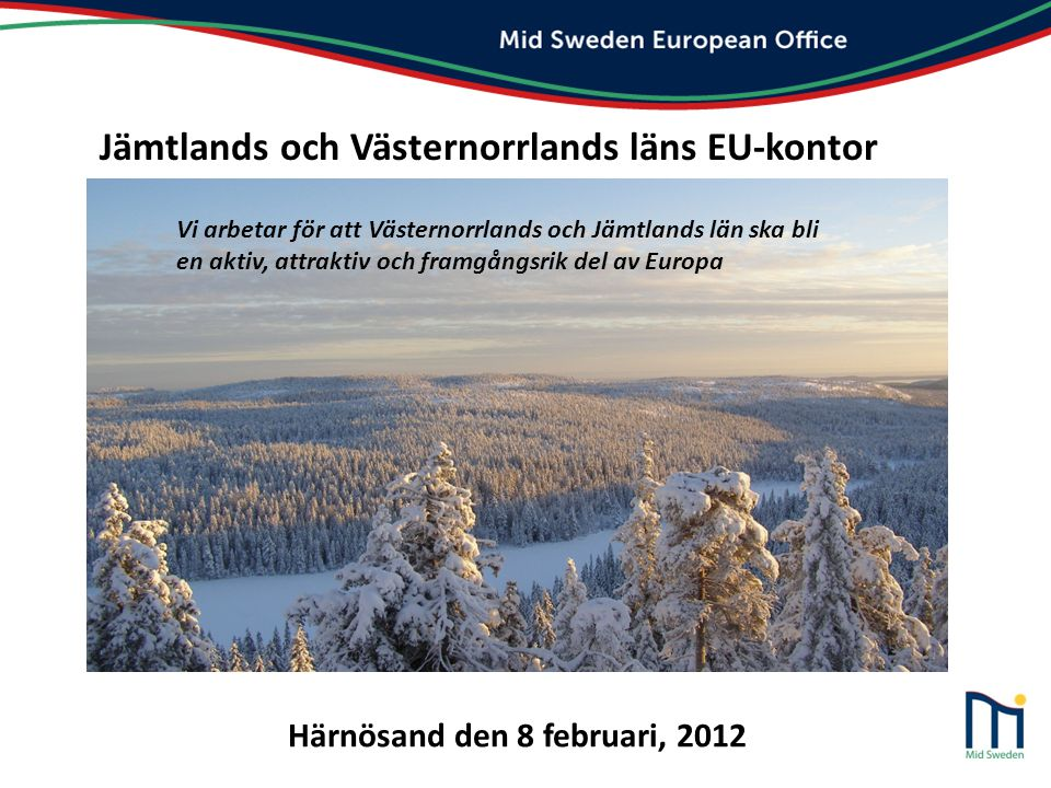 Jämtlands och Västernorrlands läns EU-kontor