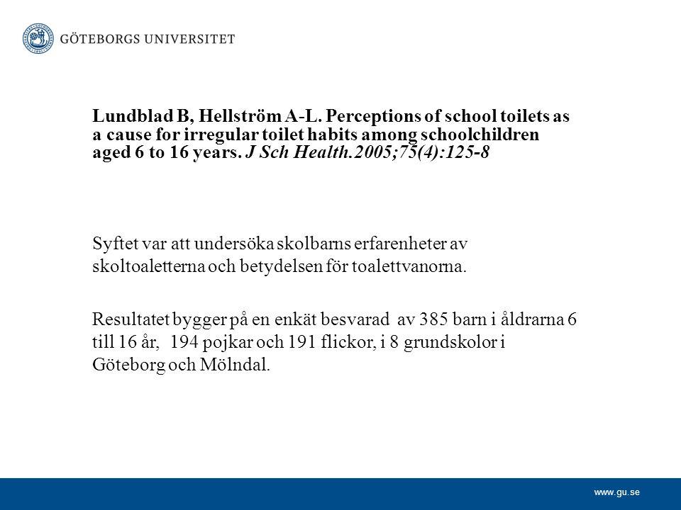 Lundblad B, Hellström A-L