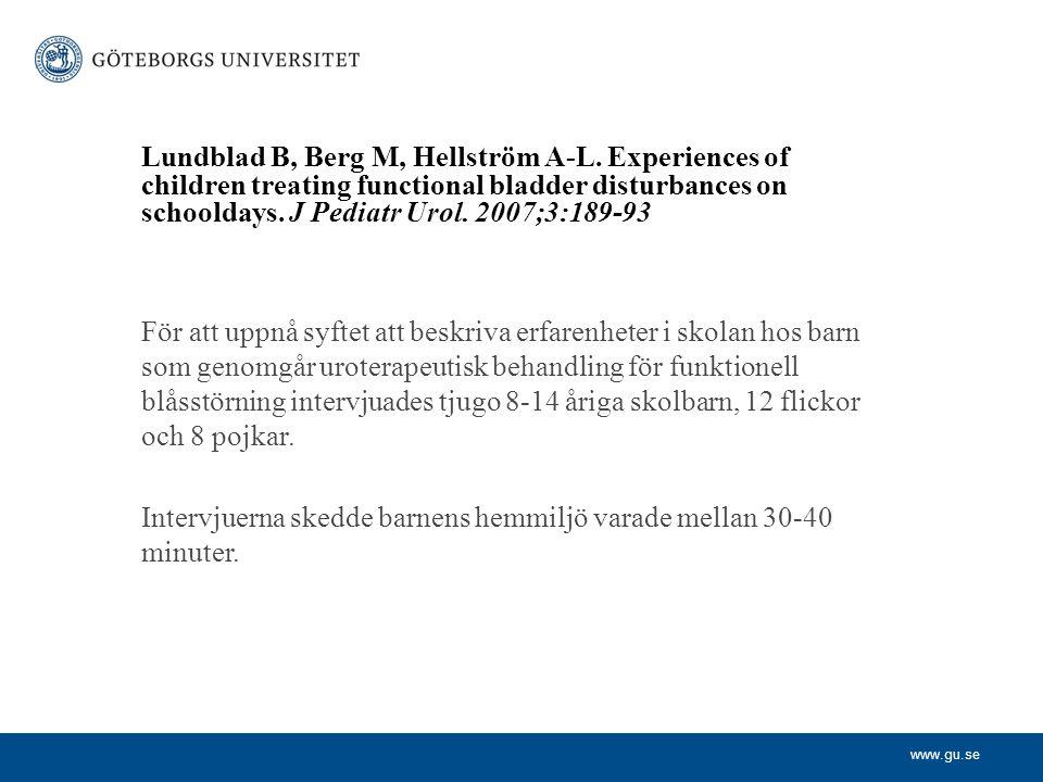 Lundblad B, Berg M, Hellström A-L
