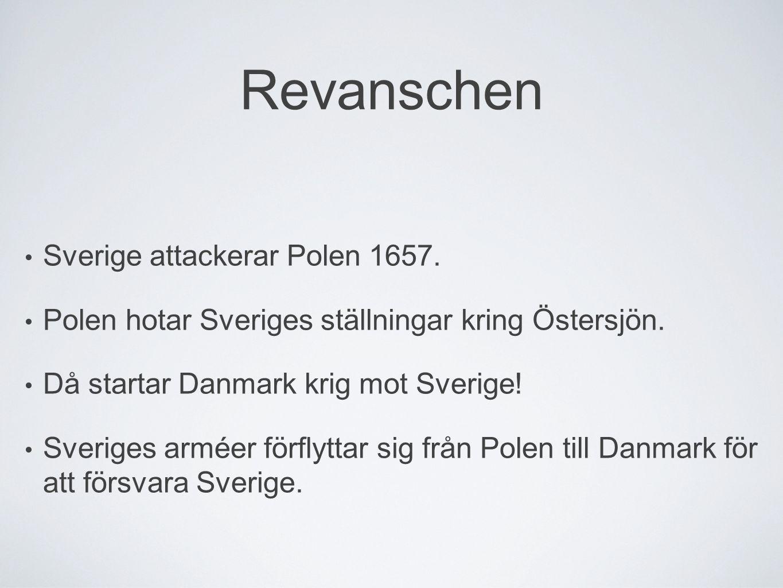 Revanschen Sverige attackerar Polen 1657.