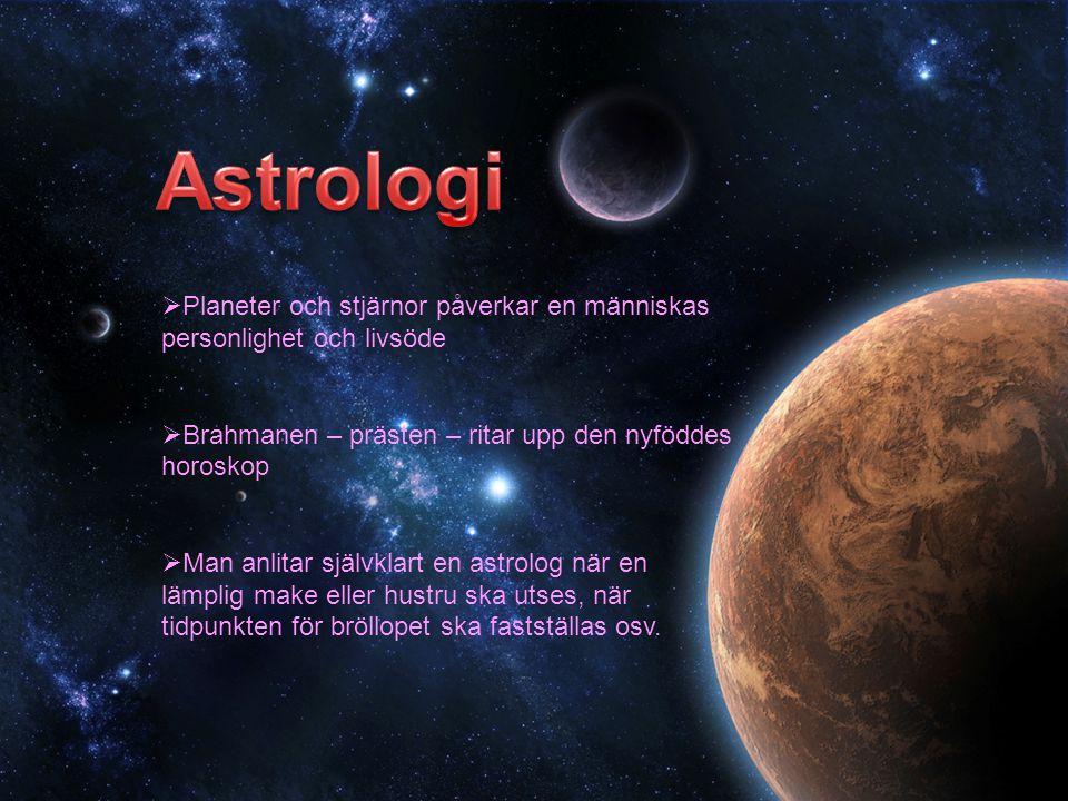 Astrologi Planeter och stjärnor påverkar en människas