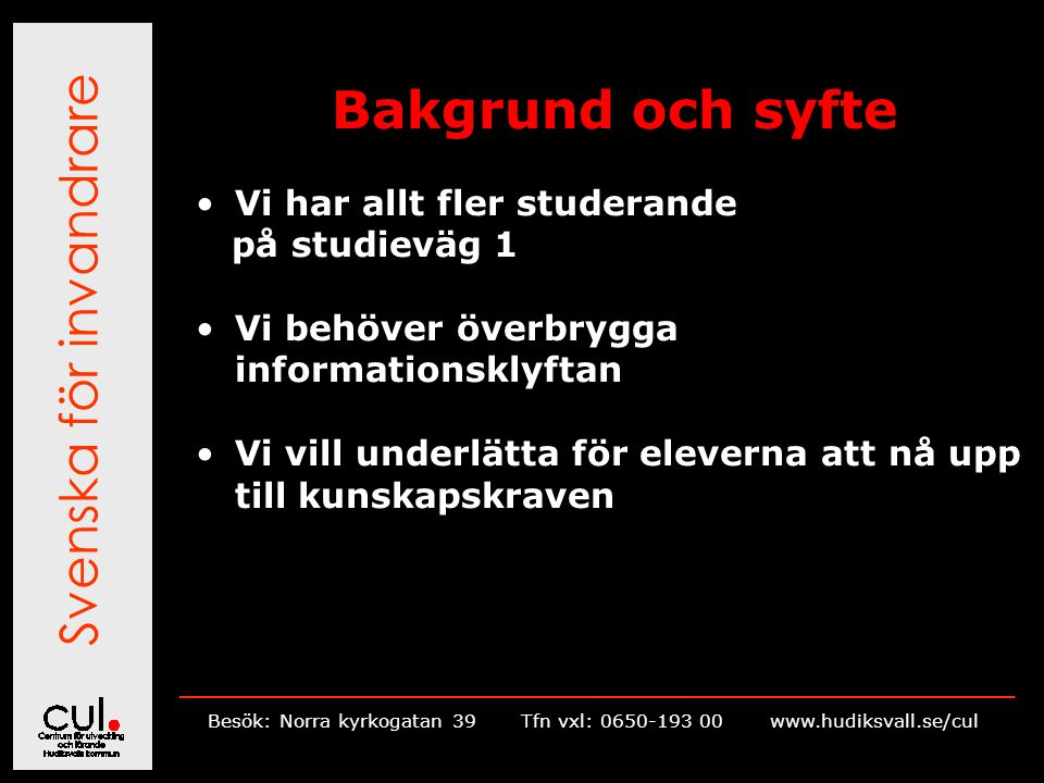 Svenska för invandrare