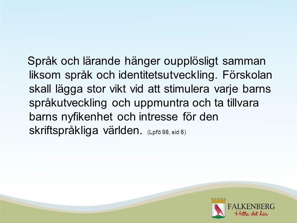 Språk och lärande hänger oupplösligt samman liksom språk och identitetsutveckling.