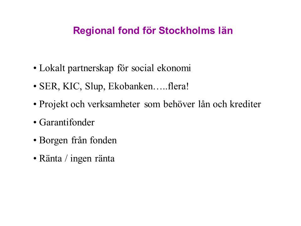 Regional fond för Stockholms län