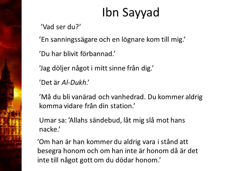 3. Delandet av månen Ibn Sayyad 'Vad ser du '