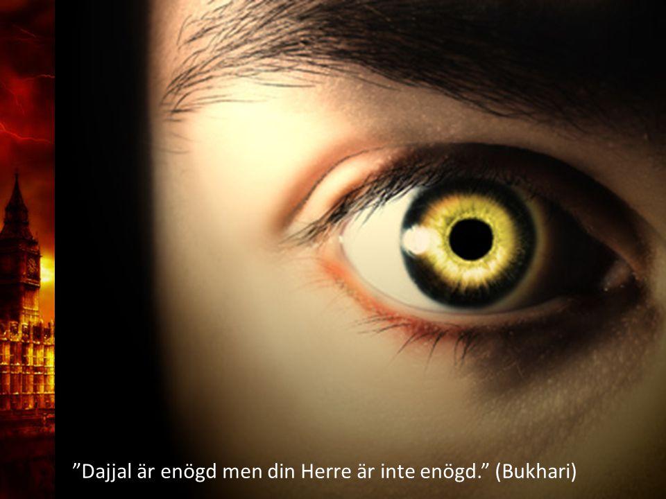 3. Delandet av månen Dajjal är enögd men din Herre är inte enögd. (Bukhari)
