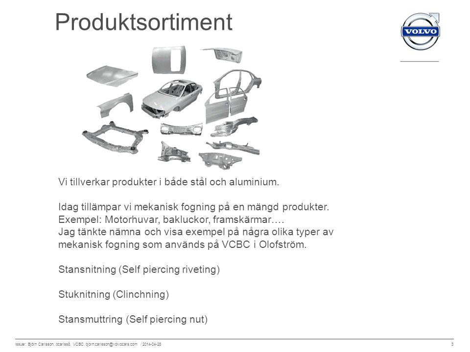 Produktsortiment Vi tillverkar produkter i både stål och aluminium.