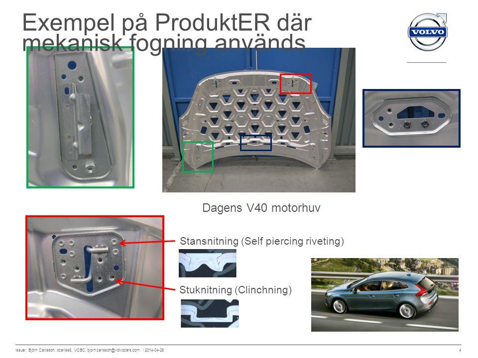 Exempel på ProduktER där mekanisk fogning används