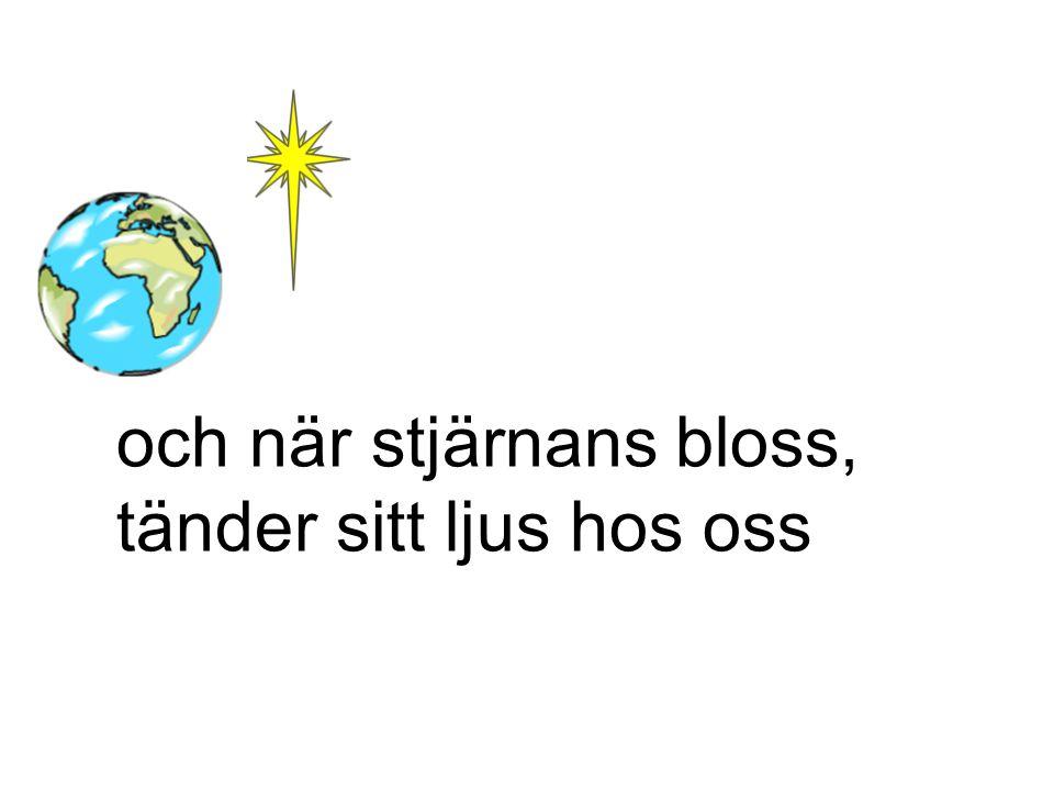 och när stjärnans bloss, tänder sitt ljus hos oss