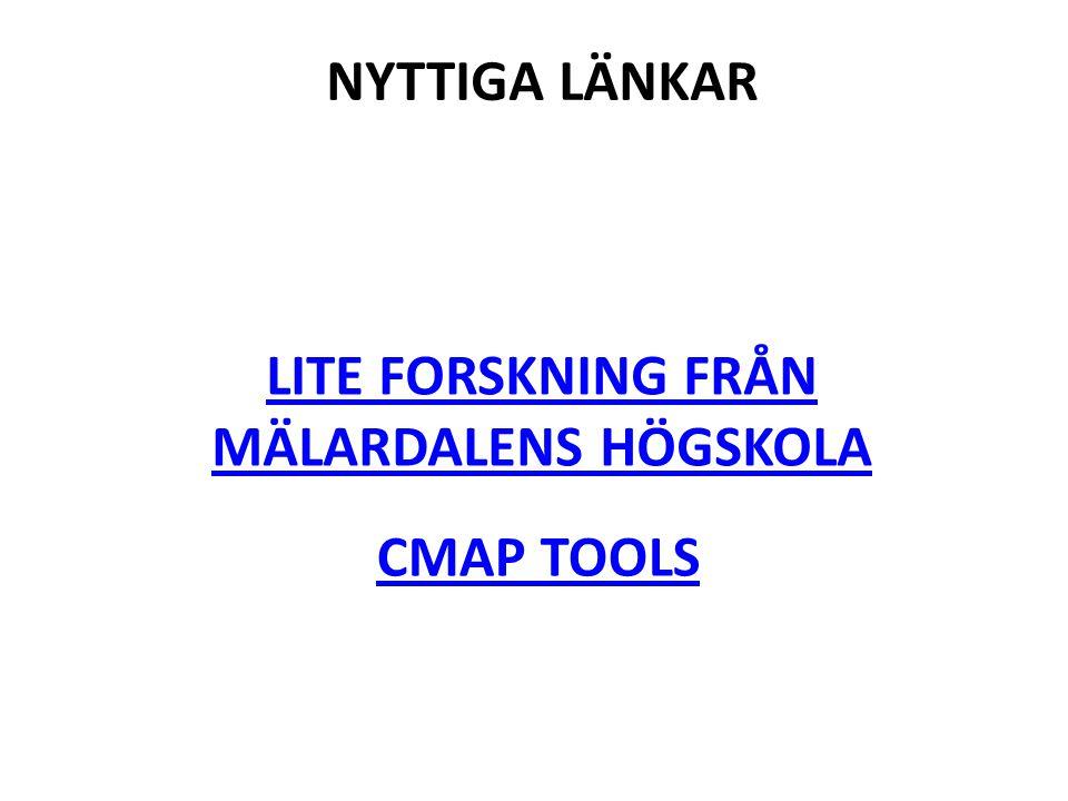 Lite forskning från Mälardalens högskola