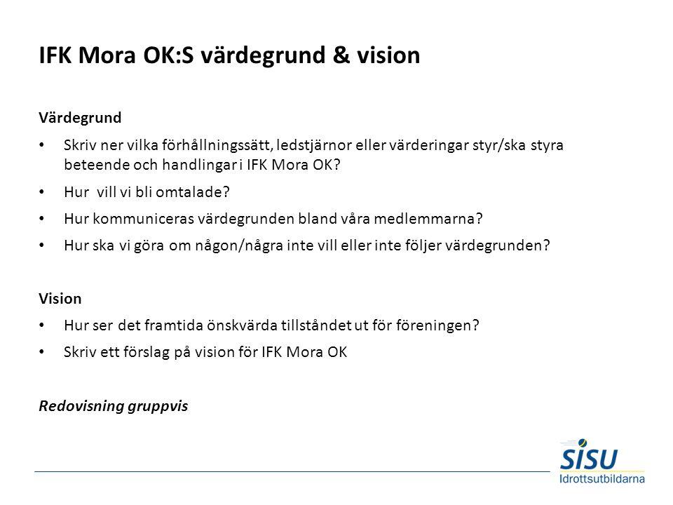 IFK Mora OK:S värdegrund & vision