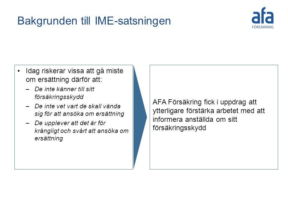 Bakgrunden till IME-satsningen