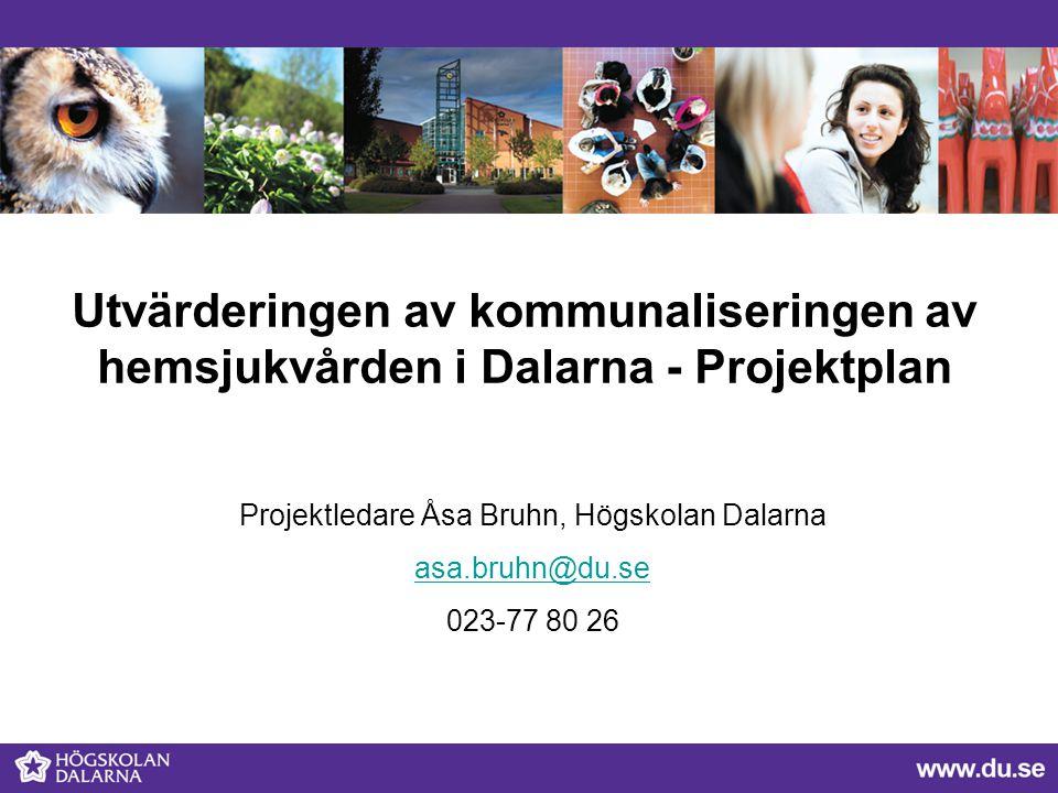 Projektledare Åsa Bruhn, Högskolan Dalarna