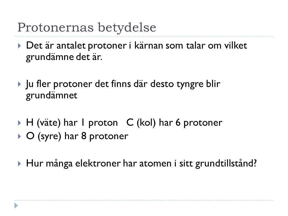 Protonernas betydelse