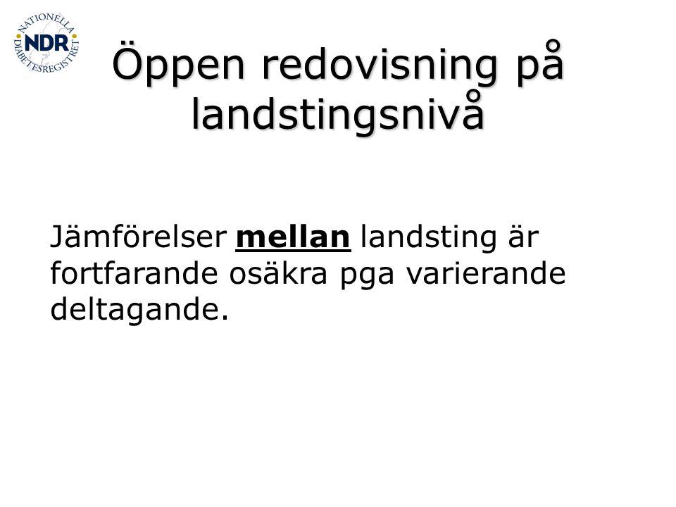 Öppen redovisning på landstingsnivå
