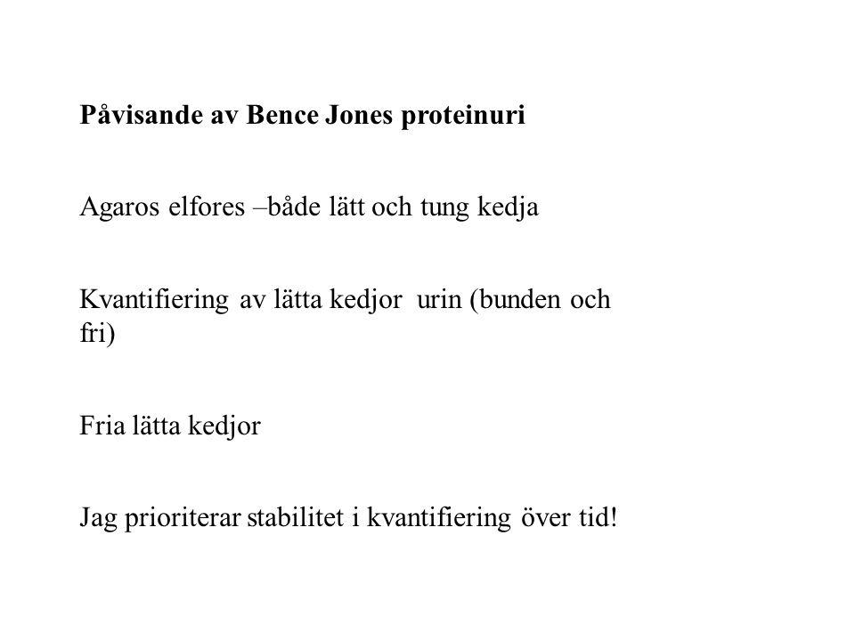 Påvisande av Bence Jones proteinuri