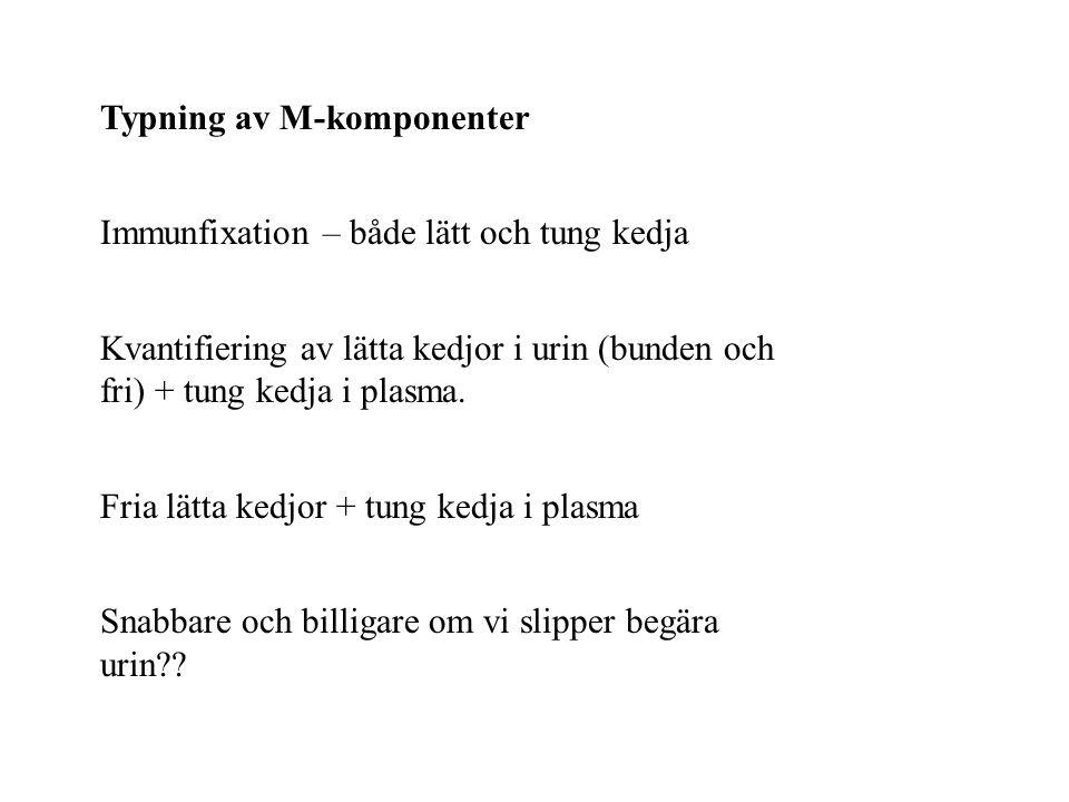 Typning av M-komponenter