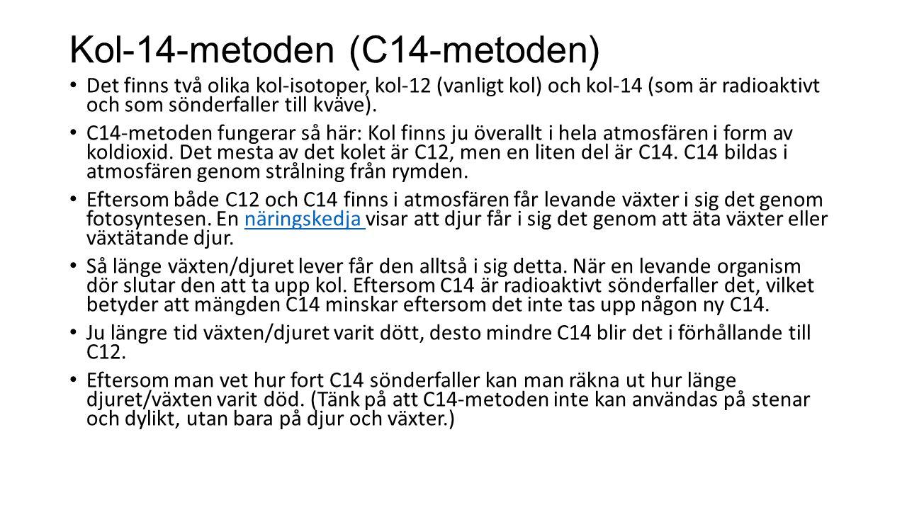 Kol-14-metoden (C14-metoden)
