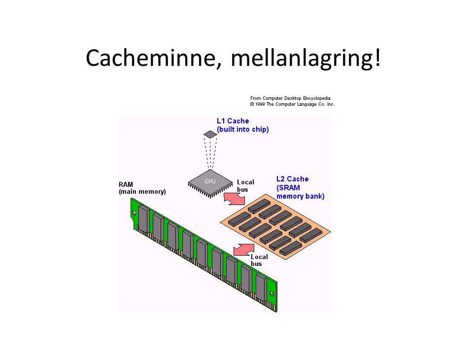 Cacheminne, mellanlagring!