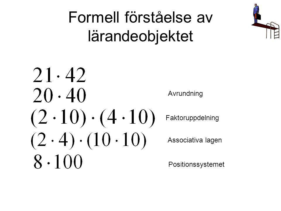 Formell förståelse av lärandeobjektet