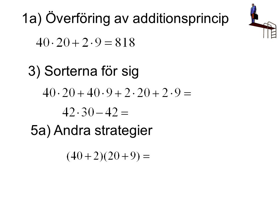 1a) Överföring av additionsprincip