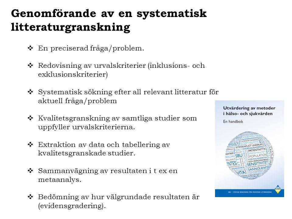 Genomförande av en systematisk litteraturgranskning