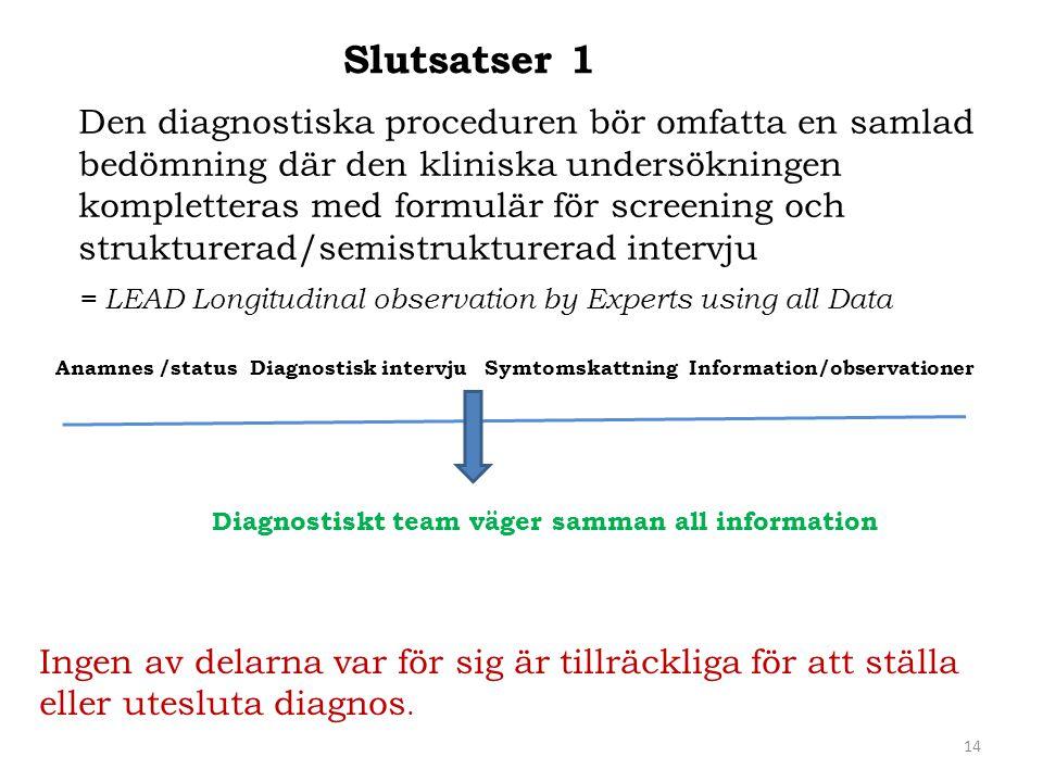 Slutsatser 1