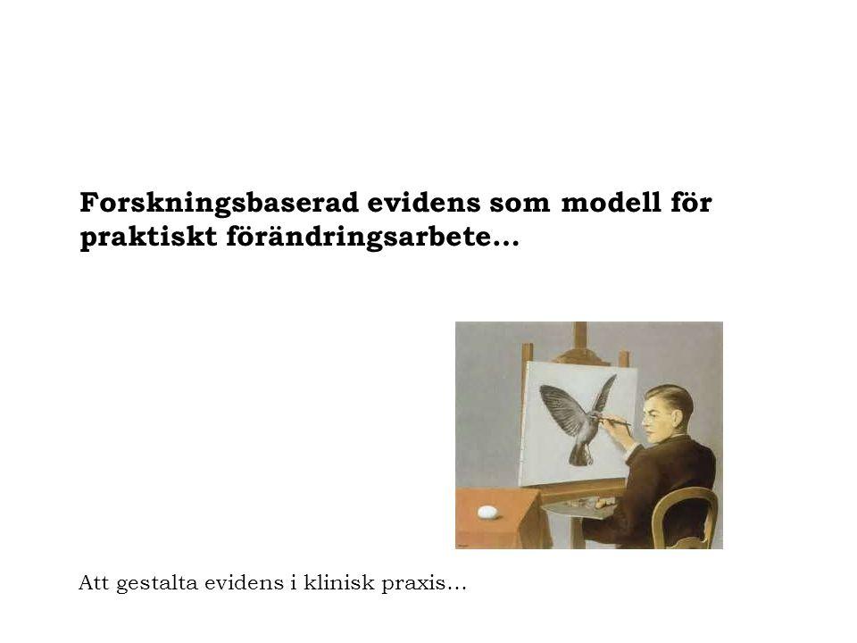 Forskningsbaserad evidens som modell för praktiskt förändringsarbete…