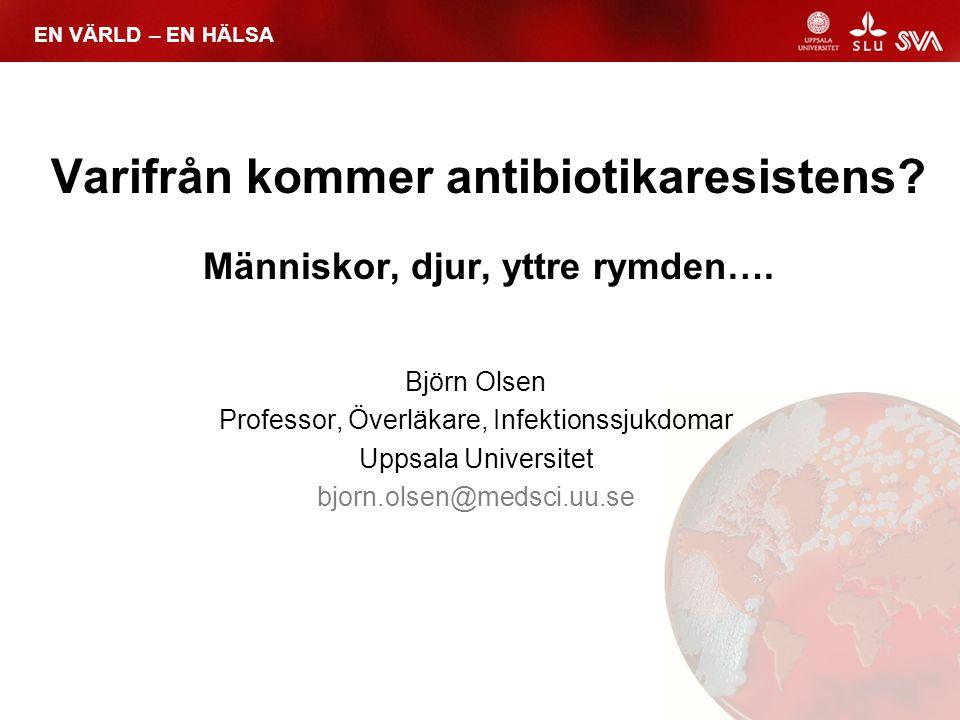 Varifrån kommer antibiotikaresistens Människor, djur, yttre rymden….